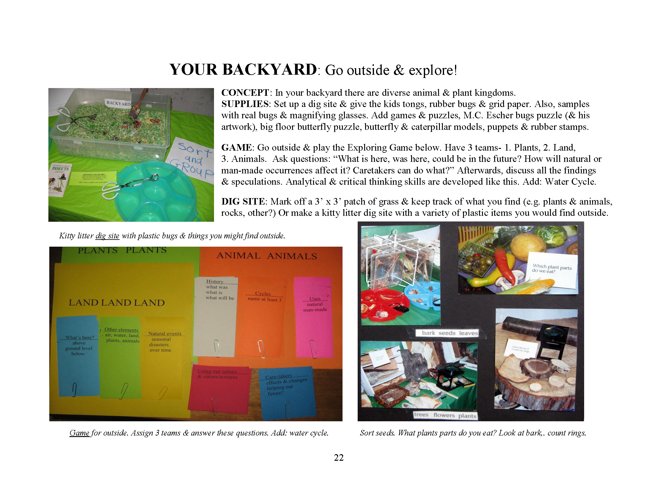 Backyard Science Games exciting backyard science education for pre-primary students | worth